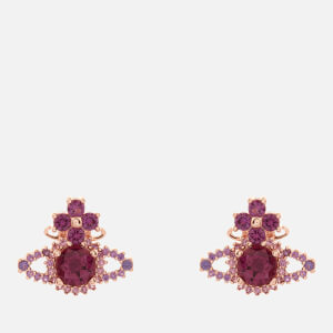 Vivienne Westwood Women's Valentina Orb Earrings - Pink Gold Amethyst