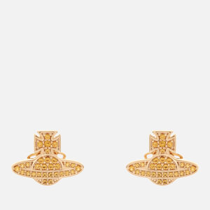 Vivienne Westwood Women's Romina Pave Orb Earrings - Gold Amber