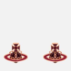 Vivienne Westwood Women's Regina Small Bas Relief Earrings - Pink Gold Amethyst Magenta Amethyst