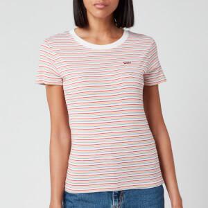 Levi's Women's Short Sleeve Rib Baby T-Shirt - Pearl Poppy Red