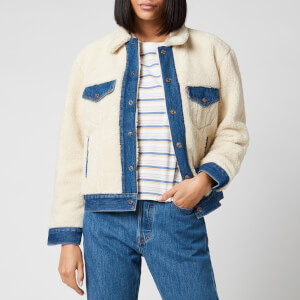 Levi's Women's Ex BF Pieced Trucker Denim Jacket - Counting Sheep