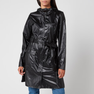 RAINS Women's Curve Jacket - Shiny Black