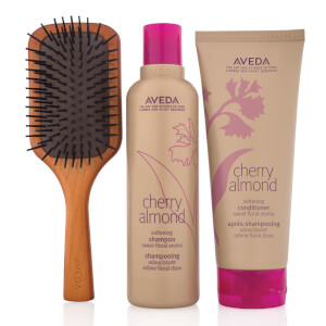 Aveda lookfantastic Exclusive Cherry Almond Haircare and Mini Paddle Brush Set