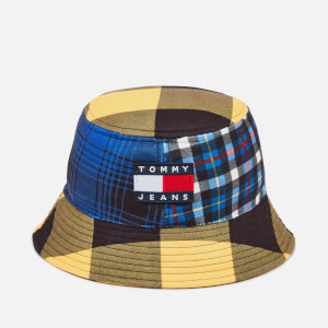 Tommy Jeans Men's Heritage Bucket Hat - Blue/Yellow Check