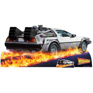 Back to the Future DeLorean Car Oversized Cardboard Cut Out