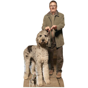 Friday Night Dinner Jim (Mark Heap) and Milson Dog Oversized Cardboard Cut Out from I Want One Of Those