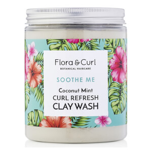 Flora & Curl Coconut Mint Curl Refresh Clay Wash 260g