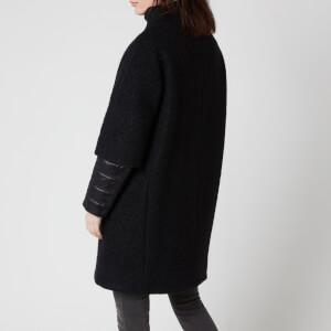 Herno Women's Layered Sleeve Coat - Nero