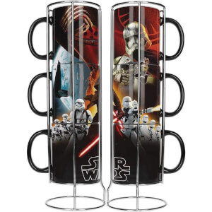 Lot de 3 Tasses Empilables en Céramique Noir First Order Star Wars
