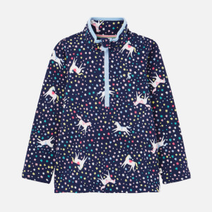 Joules Kids' Fairdale Fleece Jacket - Navy Unicorn