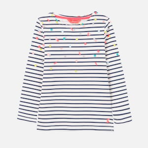 Joules Kids' Harbour Print Sweat Top - Navy