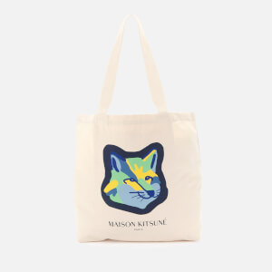 Maison Kitsuné Men's Neon Fox Head Tote Bag - Ecru