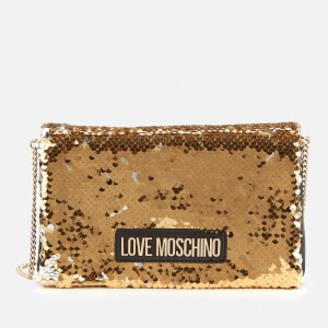 Love Moschino Women's Sequin Shoulder Bag - Gold