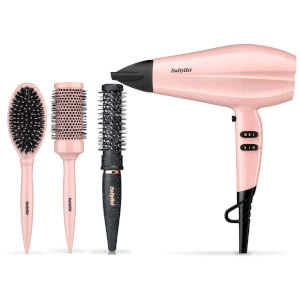 BaByliss Rose Blush Dryer Bundle