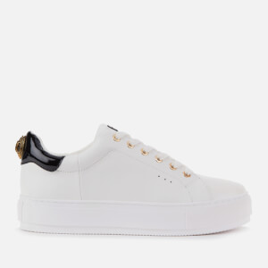 Kurt Geiger London Women's Laney Eagle Leather Flatform Trainers - White/Black