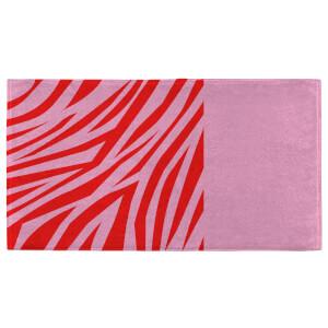Zebra Print Fitness Towel