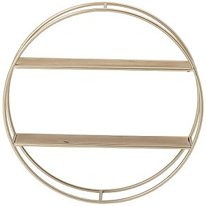 Bloomingville Round Shelf - Gold