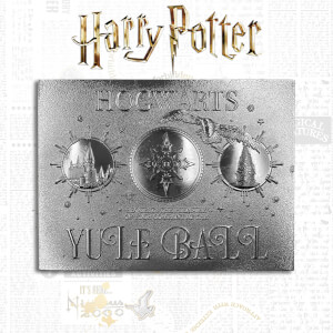 Harry Potter 24K Silver Plated Yule Ball Ticket Limited Edition Replica