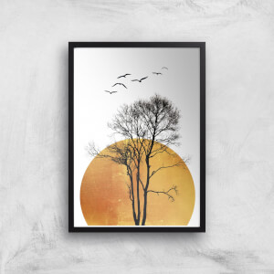 Kubistika Winter Sunrise Giclee Art Print