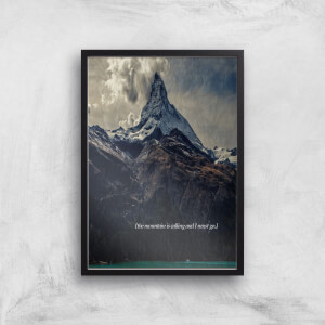 Kubistika The Mountain Is Calling Giclee Art Print