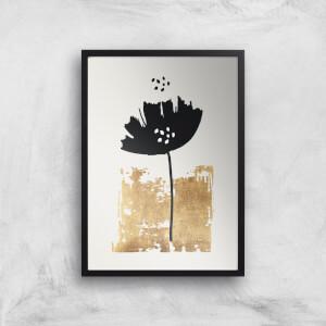 Kubistika Black Poppy Giclee Art Print
