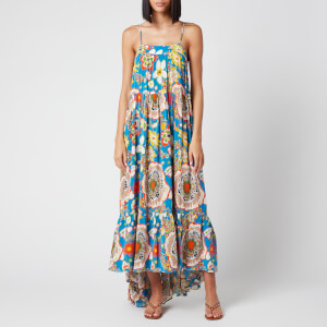 Simon Miller Women's Pumpa Layered Tank Dress - Blue Floral Print