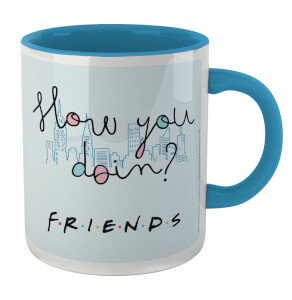Friends How You Doin Mug - White/Blue