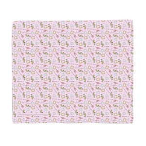 Friends Warm Tone Pattern Fleece Blanket