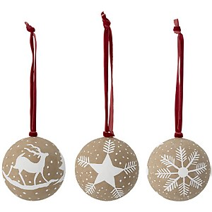 Bloomingville Paper Christmas Bauble - Set of 3