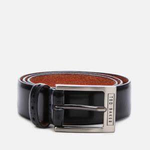 Ted Baker Men's Waffler Branded Leather Belt - Black