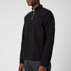 Martine Rose Men's Fortin Quarter Zip Sweatshirt - Black