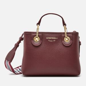 Emporio Armani Women's Small Tote Bag - Burgundy