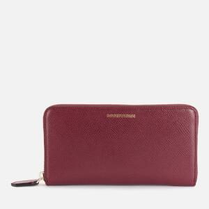 Emporio Armani Women's Zip Around Wallet - Black/Red