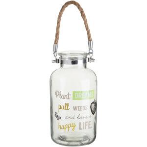 Artists Garden Glass Lantern