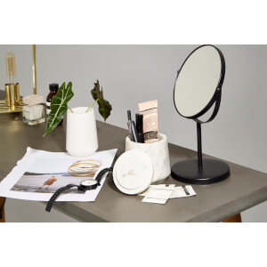 Black Swivel Table Mirror
