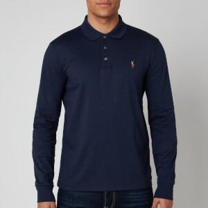 Polo Ralph Lauren Men's Pima Long Sleeve Polo Shirt - Spring Navy Heather
