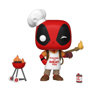 Marvel- Deadpool 30th - Backyard Griller Deadpool Figura Funko Pop! Vinyl