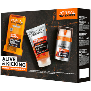 L'Oreal Paris Men Expert Alive and Kicking 3 Piece Gift Set for Him (Worth £19.00)