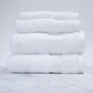Charisma 4 Piece White Towel Bale Set