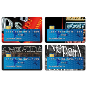 Neon Lights Credit Card Covers