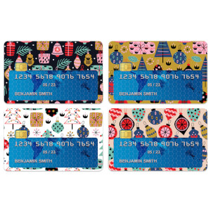 Christmas Patterns Credit Card Covers