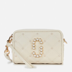 Marc Jacobs Women's The Softshot 17 Quilted Pearl Bag - Oatmilk