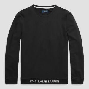 Polo Ralph Lauren Men's Long Sleeve Crewneck Sleep Top - Polo Black