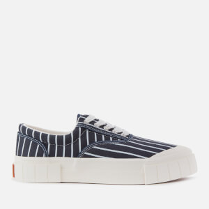 Good News Men's Opal Stripe Sustainable Trainers - Navy Stripe
