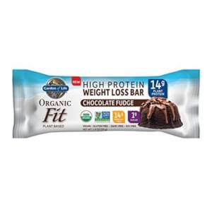 Garden of Life Organic Fit Plant-Based Bar - Chocolate Fudge - 12 Bars