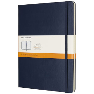 Moleskine Classic Ruled Hardcover XL Notebook - Sapphire Blue