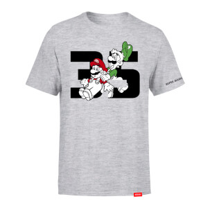 Mario and Luigi T-Shirt (Adults) - Super Mario Bros. 35th Anniversary