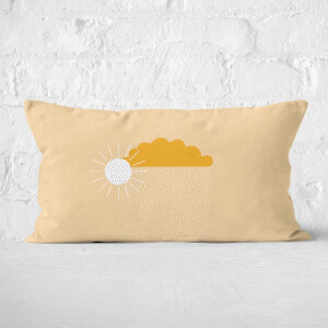 Sunny Rain Cloud Rectangular Cushion