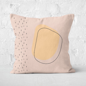 Speckled Circular Outline Square Cushion