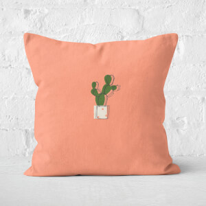 Cute Cactus Square Cushion
